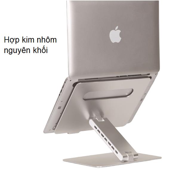 [Nhập ELJAN2 giảm đến 200k cho đơn 99k]Giá đỡ nâng laptop stand nhôm một chân chỉnh góc nghiêng và hỗ trợ tản nhiệt máy tính xách tay T2 một chân