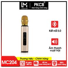 Micro Không dây Bluetooth kèm loa hát Karaoke Micro nghe nhạc có khay gắn Thẻ nhớ cao cấp chống hú hát hút giọng PKCBK6 NEW có thể dùng để trợ giảng
