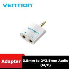 Đầu Chia Jack audio cổng âm thanh 3.5mm từ 1 ra 2 cổng Vention BDBW0