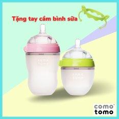 Bình sữa Comotomo cho bé dung tích 150ml / 250ml – tặng kèm tay cầm Soraka Kids