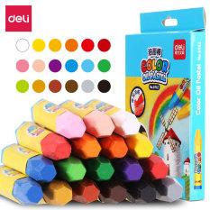 DELI – Bút sáp màu học sinh, bút tô màu 12/18/24/36 màu/hộp 6961/6962/6963/6964