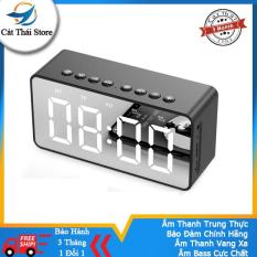 Loa Bluetooth BT506 Cát Thái nhà chuyên dùng siêu âm bass hỗ trợ âm thanh cho điện thoại đồng hồ loa bluetooth mini tiện đem theo nhiều chức năng đồng hồ và báo thức