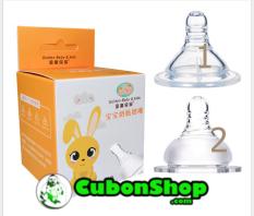 Núm Ty Silicone Thay Cho Bình Sữa Cổ Rộng, Cổ Hẹp/ Thường