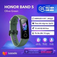 [HÀNG CHÍNH HÃNG – ĐỘC QUYỀN LAZADA] Vòng đeo tay thông minh Honor Band 5 – Chức năng đo Oxy trong máu SpO2 – Màn hình AMOLED – 10 chế độ thể thao – Chống nước 50M