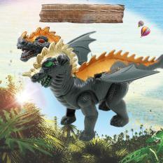 Đồ chơi khủng long 2 đầu có cánh chạy bằng pin, quà tặng cho bé thú vị