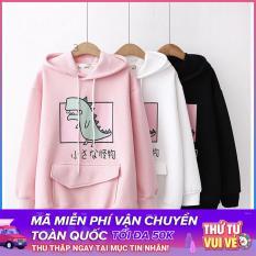 Áo hoodie nữ hình Khủng Long siêu dễ thương – PP06