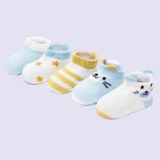 Set 5 đôi tất mùa thu cho bé (tất mèo) / Tất điều hòa cho bé