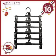 [ BIG SALE+FREE GIAO HÀNG ] Bộ 6 móc treo quần người lớn Mainetti – MB12 – Đen