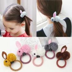 Sét 5 dây buộc tóc tai thỏ cho bạn và bé