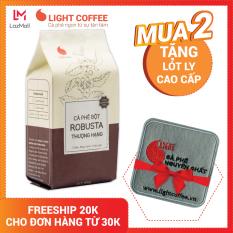 Cà phê 100% nguyên chất Light Coffee , cà phê bột Robusta Thượng hạng ,pha phin uống liền,đặc biệt không tẩm ướp hương liệu – Gói 100g