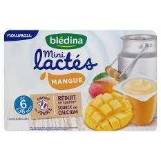 Sữa chua B'ledina 6*55G vị xoài 6*55g cho trẻ từ 6-36m Pháp date T12.2021