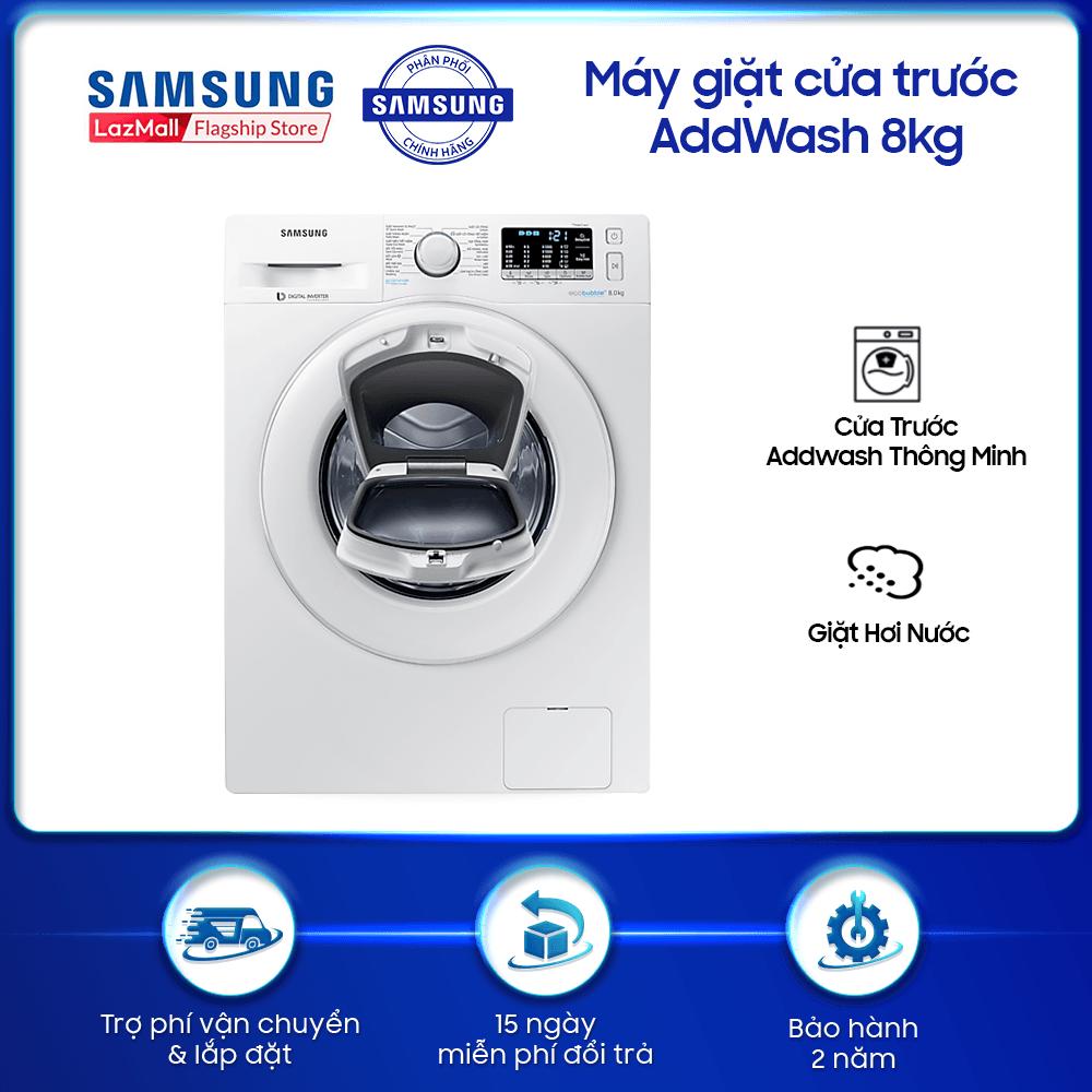 Máy giặt cửa trước Samsung AddWash 8kg – WW80K52E0WW – WM