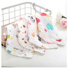Set 5 khăn xô sữa, khăn rửa mặt sợi tre aden 6 lớp cho bé kích thước 30*30cm