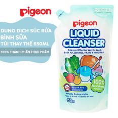 Dung dịch súc rửa bình sữa Pigeon 650ml-túi thay thế