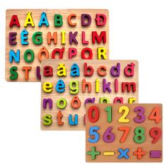 Đồ Chơi Xếp Chữ Cái Và Số Bằng Gỗ Cho Bé Từ 1 Đến 5 Tuổi Vừa Chơi Vừa Học, Đồ Chơi Giáo Dục Trẻ Em