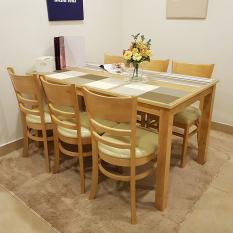 [Freeship] [Trả góp 0%] Bộ Bàn ăn 6 ghế Ulsan IBIE 1m6 gỗ cao su phong cách Bắc Âu Scandinavian theo lối sống tối giản, kích thước, màu sắc tùy chọn. Gia công tỉ mỉ, chất lượng xuất khẩu. Bảo hành 12 tháng, miễn phí vận chuyển TPHCM