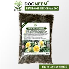 Phân bón rong biển siêu kích rễ, dưỡng mầm lá (Túi 1kg), kết hợp Neemcake, Phân bò ủ hoai mục chuyên biệt cho Hoa hồng, thương hiệu Docneem