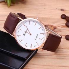 Đồng hồ nam thời trang Geneve G33 dây da cao cấp 2 kim máy mỏng thanh lịch, sang trọng