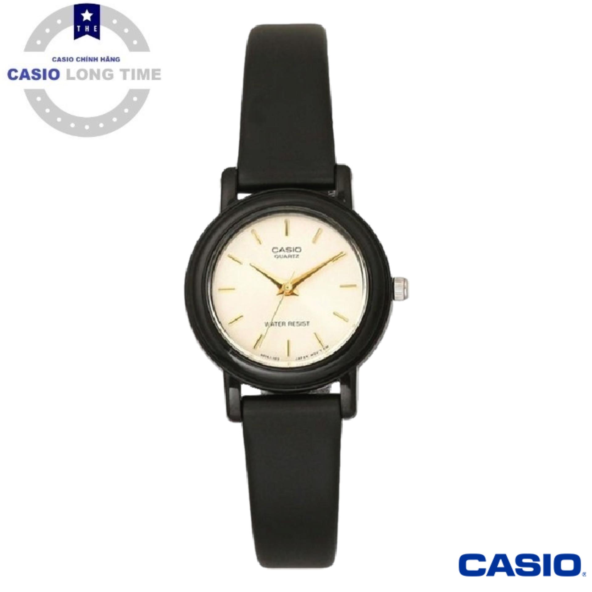 [Ủy Quyền Bởi Casio Anh Khuê]Đồng Hồ Nữ Casio LQ-139EMV-9ALDF Dây Nhựa Màu Đen – Nền Mặt Mạ Vàng