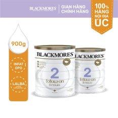 Combo 2 lon sữa bột Blackmores Follow-on Formula cho trẻ 6-12 tháng tuổi lon 900g