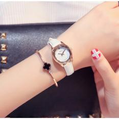 Đồng hồ nữ Julius Hàn Quốc JA-723B dây da cá tính (Trắng)