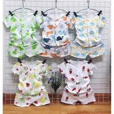 Bộ cộc tay cotton giấy cho bé thấm hút mồ hôi thoải mái (4-16kg)