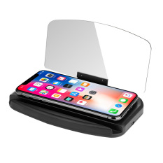 Giá đỡ sáng tạo mới HUD HD – Tích hợp sạc không dây, phản chiếu màn hình điện thoại lên gương tiện lợi – CAR09