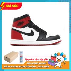 Giày Thể Thao Sneaker Nam Nữ Jordan1 Cao Cổ Màu Đỏ Đen