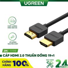 [Nhập ELMAY21 giảm thêm 10% đơn từ 99k] Dây cáp HDMI 2.0 UGREEN HD121 thuần đồng 19 + 1 dài 1.5m 2m – Tương thích với SmartTV, đầu DVD, Set top box, máy chiếu