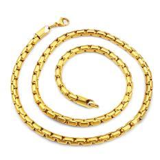 Dây chuyền vàng nam sợi trơn xích xoắn tròn 5 mm sang trọng