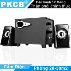 Loa Nghe nhạc máy tính loa vi tính mini cho điện thoại Máy Tính Tivi có jack 3.5mm loa cắm điện có chỉnh bass PKCB 301 3 trong 1 nghe nhạc PF7 Đen bộ 3 loa hàng chất lượng uy tín