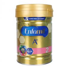 Sữa Enfamil A+ 2 360° Brain DHA+ với MFGM PRO 830-870g Vị Vani cho bé từ 6 – 12 tháng tuổi, sữa phát triển trí não cho bé