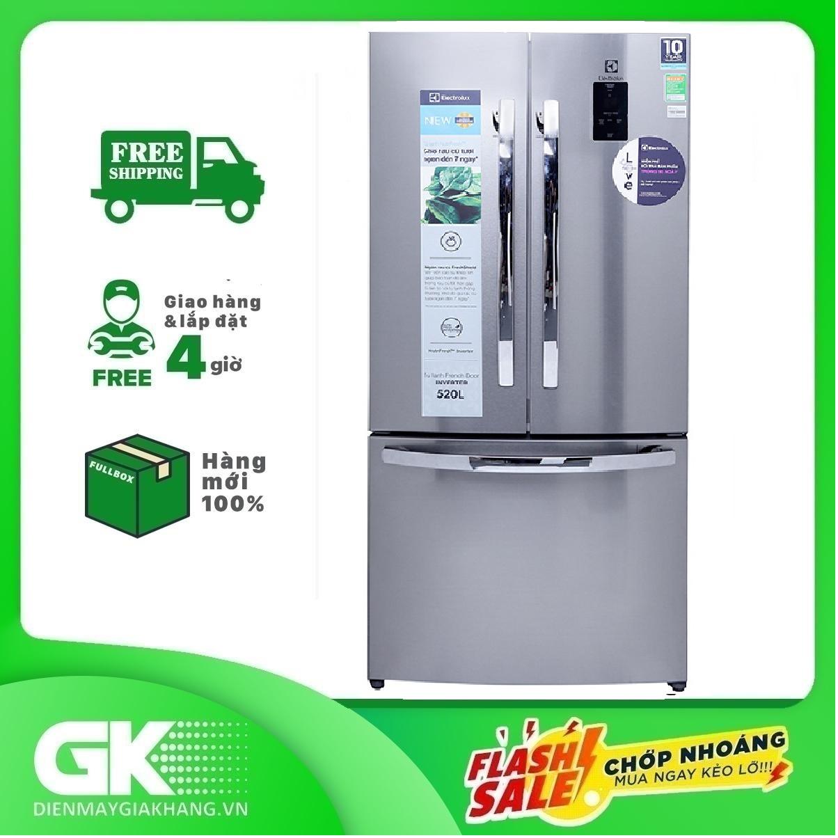 TRẢ GÓP 0% – Tủ lạnh Electrolux Inverter 474 lít EHE5220AA – Bảo hành 12 tháng