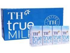 Thùng sữa tươi tiệt trùng TH true milk ít đường (48 hộp x 110ml)