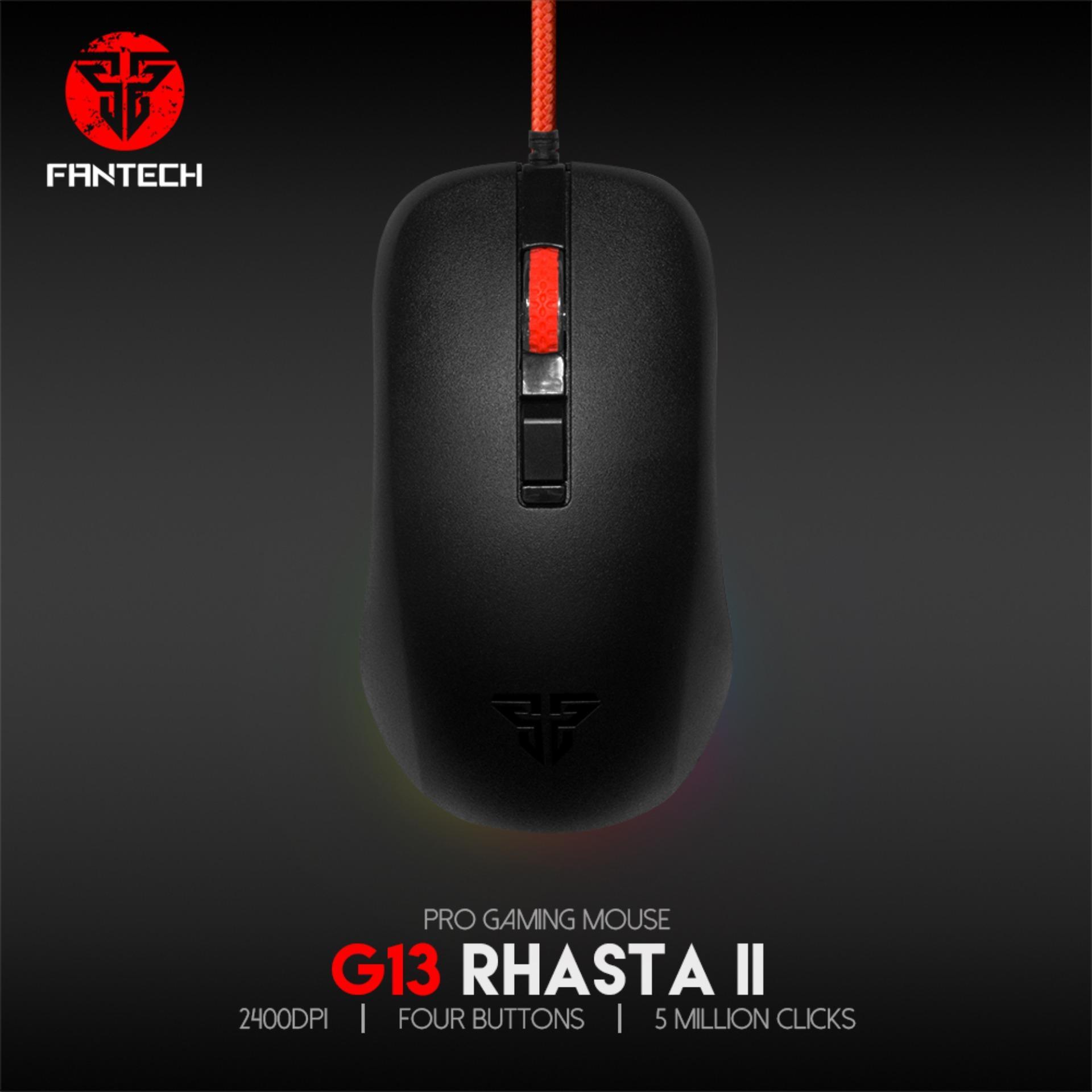 Chuột chơi game 2400dpi 4D tốc độ di chuột siêu nhanh Fantech G13 LED RGB- Hãng Phân Phối Chính Thức