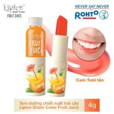 Son dưỡng chiết xuất trái cây Lipice Sheer Color Fruit Juice Orange 4g (Cam Tươi Tắn)
