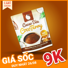 [GIÁ SỐC CHỈ 9.000] Bột Cacao sữa dừa CocoTerry vị béo thơm, đậm đà, không hương liệu, an toàn sức khỏe Gói 50g
