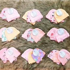 Set 3 nón mũ sơ sinh cho bé trai và bé gái từ 0-6 tháng tuổi chất thun cotton dày đẹp nhiều họa tiết đáng yêu BBShine – SS004