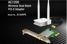 A1200PE Card mạng Wi-Fi PCI-e băng tần kép AC1200 Chính Hãng BH 2 Năm