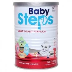 Sữa dê công thức Baby Steps số 1 Newzealand lon 400g date T11/2021