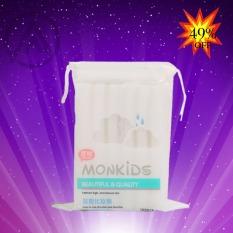 Bông tẩy trang 100% cotton 3 lớp mềm mịn thấm hút cực tốt 100 miếng/bịch – Thương Hiệu MONKIDS