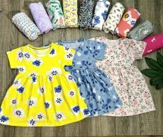 Combo 5 Váy Cotton Thái Cho Bé Hàng Đẹp Và Mát