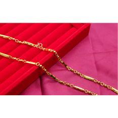 Dây chuyền nam ống trúc mạ vàng sang chảnh đẳng cấp độc quyền mạ vàng trân không 24k