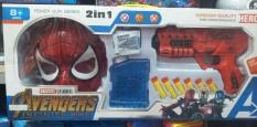 Bộ sung bắn dính siêu nhân người nhện hàng đóng hộp cho bé trai kèm mặt nạ bảo vệ 2 trong 1
