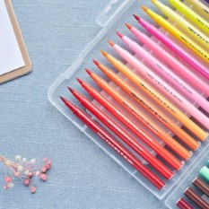 [Lấy mã giảm thêm 30%]Hộp 12 brush pen màu bút calligraphy có thể đổ thêm mực XZ DecorMe BC-635