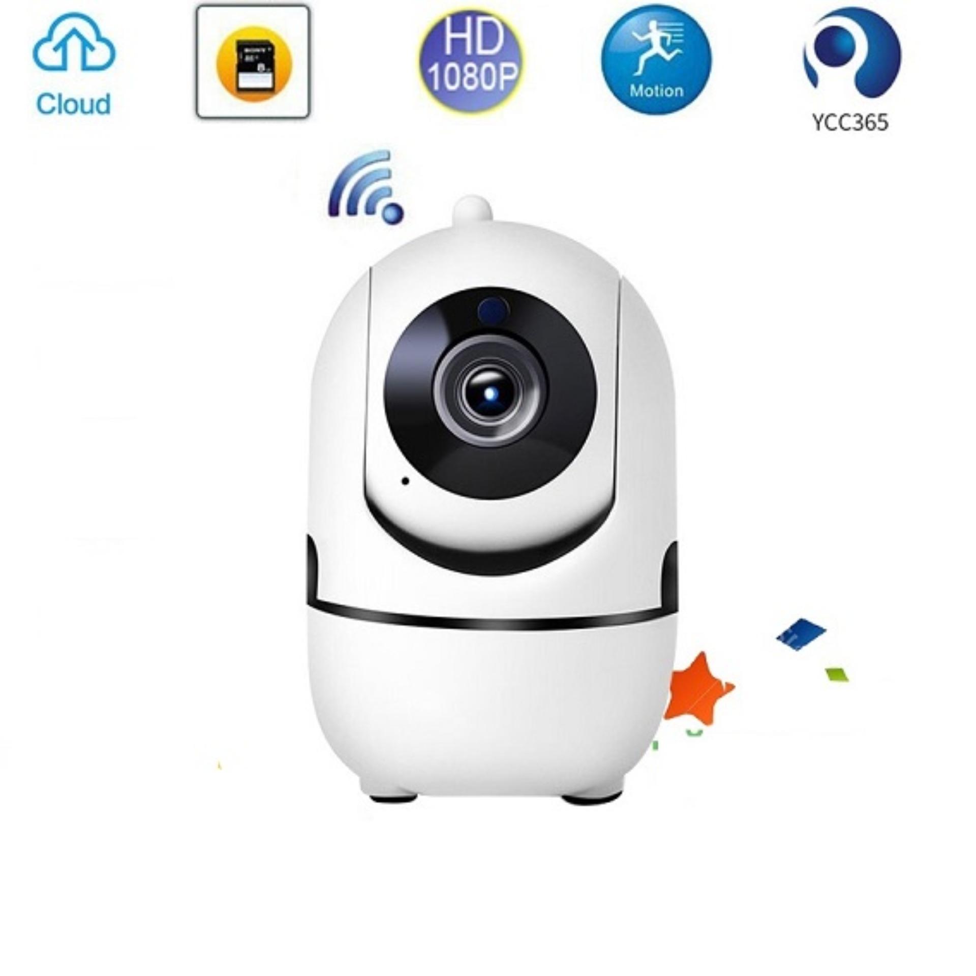Shop bán Camera Wifi mini thông minh xoay theo chuyển động Ycc365 - 2.4MP  Full HD chất lượng hình ảnh siêu nét, hỗ trợ đàm thoại 2 chiều