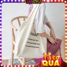 Túi Vải Tote Cỡ Lớn Attitude Quảng Châu M563 – 100style.net dễ dàng phối với các loại áo thun tay lỡ, áo thun form rộng, áo thun unisex