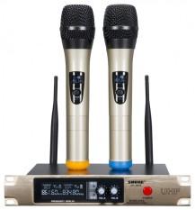 [Giá Hủy Diệt Miễn Ship] Mic Hát Karaoke, Bộ 2 Micro Không Dây Và Đầu Thu SHURE SH-300G, Bộ 2 Micro Không Dây Vàng SHURE SH-300G Âm Thanh Cực Hay, Chống Nhiễu Chuyên Nghiệp, Sóng Mạnh, Âm Thanh Trung Thực, Trong Trẻo, Thiết Kế Sang Trọng, Đẳng Cấp