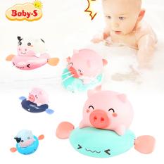 Đồ chơi nhà tắm phun nước, đồ chơi thả bồn tắm hình heo và bò vặn cót đáng yêu đủ màu sắc cho bé Baby-S – SDC057