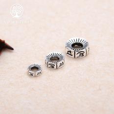 [HCM]Charm bạc chặn hạt lục tự minh chú – NQ Jewelry